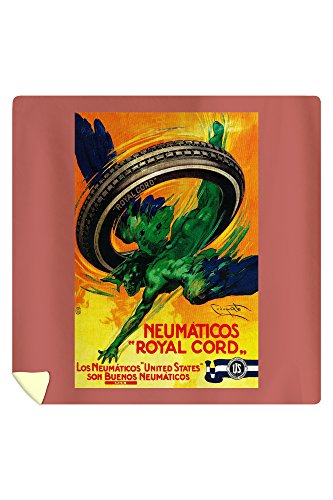 Spain - Neumaticos Royal Cord Vintage Poster (88x88 Queen Microfiber Duvet Cover) by Lantern Press