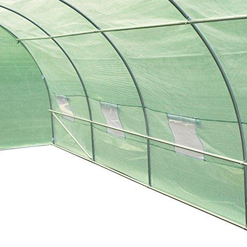 51iiTPYH5QL - Outsunny 20' x 10' x 7' Portable Walk-In Garden Greenhouse - Deep Green