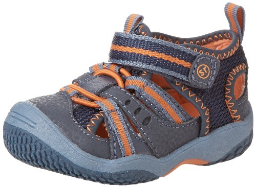 Picture of Stride Rite Baby Riff Water Sandal (Infant/Toddler),Navy/Orange,7.5 W US Toddler
