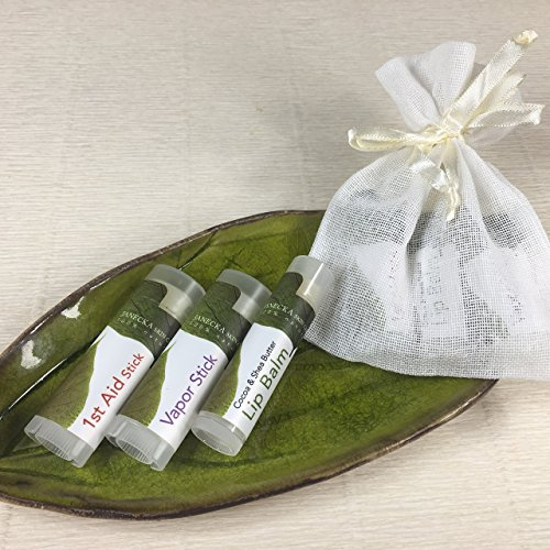 JANECKA Ointment Gift Set (Lip Balm - Vapor Stick - First Aid) Natural Skin Care by B JANECKA