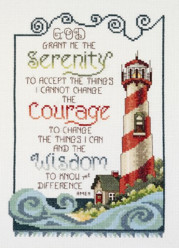 Cross Stitch Lighthouses - Janlynn Cross Stitch Kit, Serenity Lighthouse