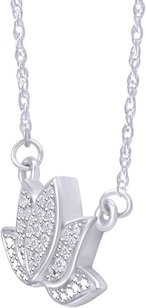 10K Yellow Gold Heart Color CZ Flower Pendant Charm Ladies Kids Sweetheart Round