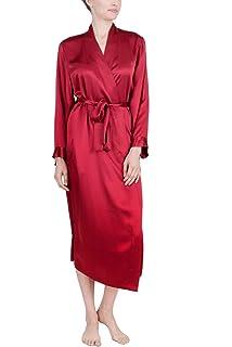 630b726e399fe OSCAR ROSSA Women s Luxury Silk Sleepwear 100% Silk Long Robe Kimono