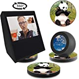 ATOPHK Echo Show Stand, Echo Spot Stand, Aluminum Stand for Amazon Echo Show Spot Look Google Home Speaker Accessories, Horizontal 360 Rotation,Panda Painting Skidproof Base