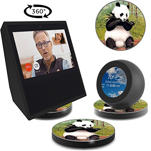 ATOPHK Echo Show Stand, Echo Spot Stand, Aluminum Stand for Amazon Echo Show Spot Look Google Home Speaker Accessories, Horizontal 360 Rotation,Panda Painting Skidproof Base by ATOPHK