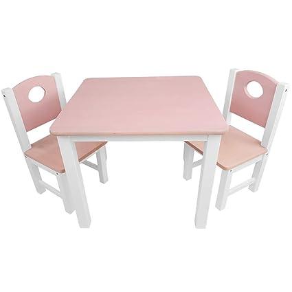 SunDeluxe Conjunto Infantil de Mesa y sillas: 1 Mesa + 2 sillas de ...