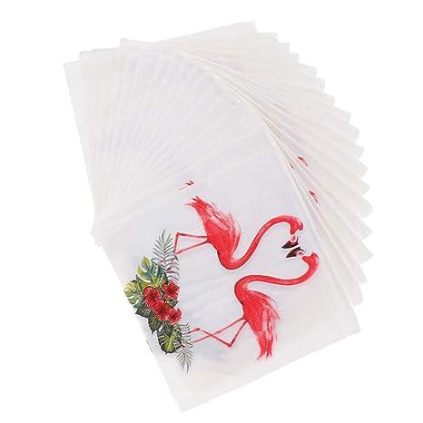 Fenteer Piezas De 20 Flamingo Papel De Papel Servilletas ...