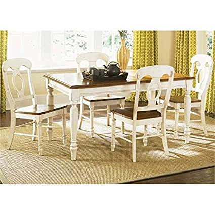 Liberty Furniture Low Country 5 Piece Dining Set In Linen Sand