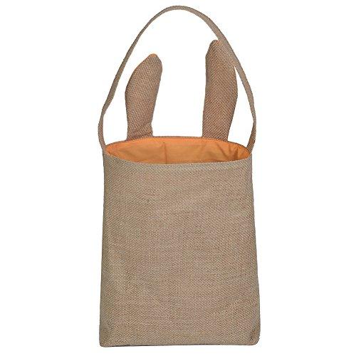 Easter Bunny Bag Easter Basket Tote Handbag,Dual Layer Bunny