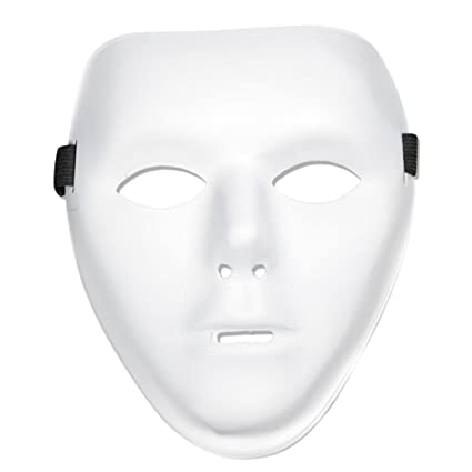 amazon com diy white face masks design your own plastic full face