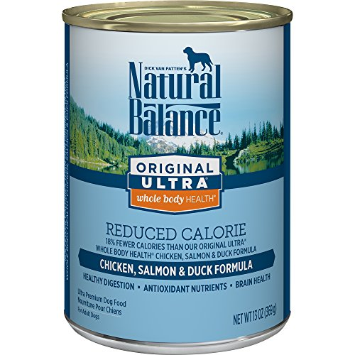 Natural Balance Original Ultra Whole Body Health Reduced Calorie Wet Dog Food Cans, 13-Ounce (Pack of (Control Formula Canned Food)
