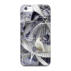 Mialisabblake UiRzgNF6273vNntZ Case Cover Iphone 5c Protective Case Doves In Blue