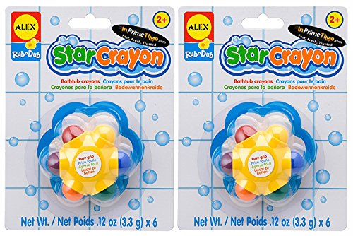 ALEX Toys Rub a Dub Star Crayon (2-Pack), Multicolor