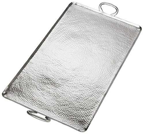 American Metalcraft G30 American Metalcraft G30 Hammered Stainless Steel Griddle, Large Rectangle, 1-3/4'' Height, 16-1/4'' Width, 30-3/4'' Length, Stainless Steel, by American Metalcraft