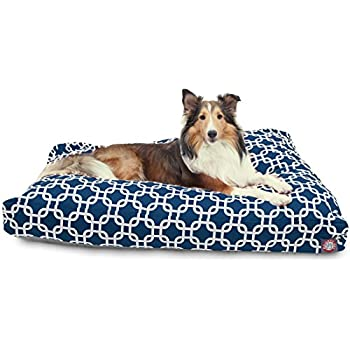 Amazon.com : Navy Blue Links Large Rectangle Indoor Outdoor Pet Dog ...