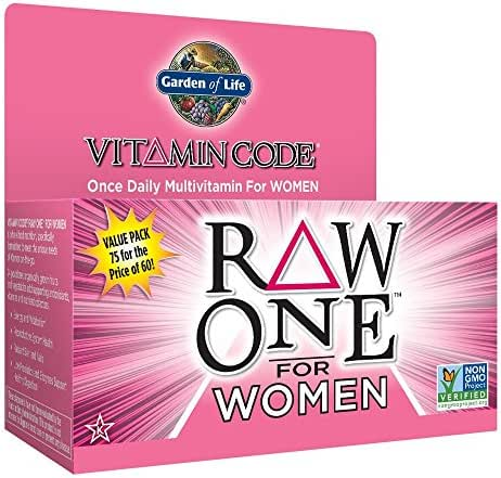 Garden of Life Multivitamin for Women - Vitamin Code Raw One Whole Food Vitamin Supplement with Probiotics, Vegetarian, 75 Capsules