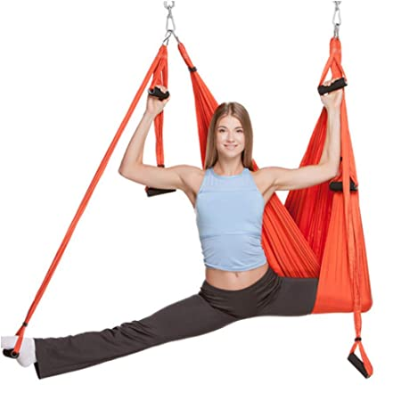 ZENWEN Yoga Satin Hammock Stretch Cloth Sling Reversión ...