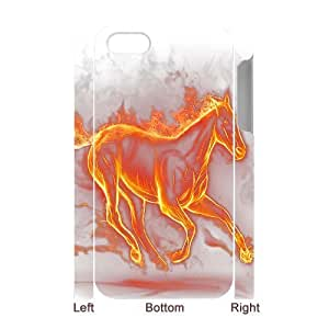 Fire Horse Personalized 3D Case for Iphone 4,4S, 3D Customized Fire Horse Case