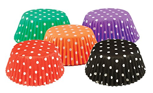 Fox Run 8115 Polka Dot Bake Cup Set, 3.75 x 3.75 x 1.25 inches, Multicolored -
