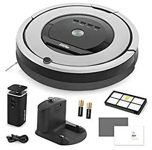 iRobot Roomba 860 Vacuum Cleaning Robot + Dual Mode Virtual Wall Barrier (Batteries) + Extra High Efficiency Filter + More