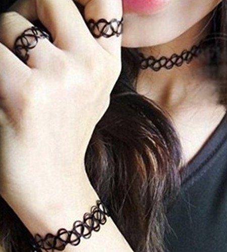 Collar gargantilla tatuaje elástica ,12 uindades: Amazon.es ...