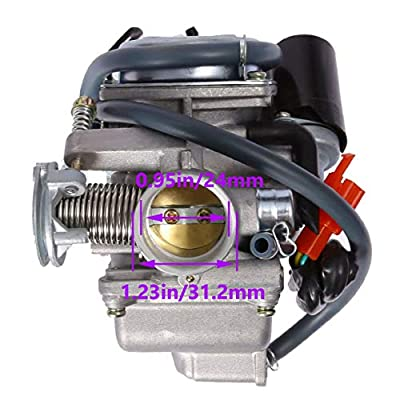 150cc Carburetor + 42MM air fliter + intake manifold for GY6 4 Stroke Hammerhead Twister 150 Go Kart Motorcycle Scooter 152QMJ 157QMI Eagle Taotao Panterra Kymco 4 Wheeler Dune Buggy Moped Scooter Par: Garden & Outdoor