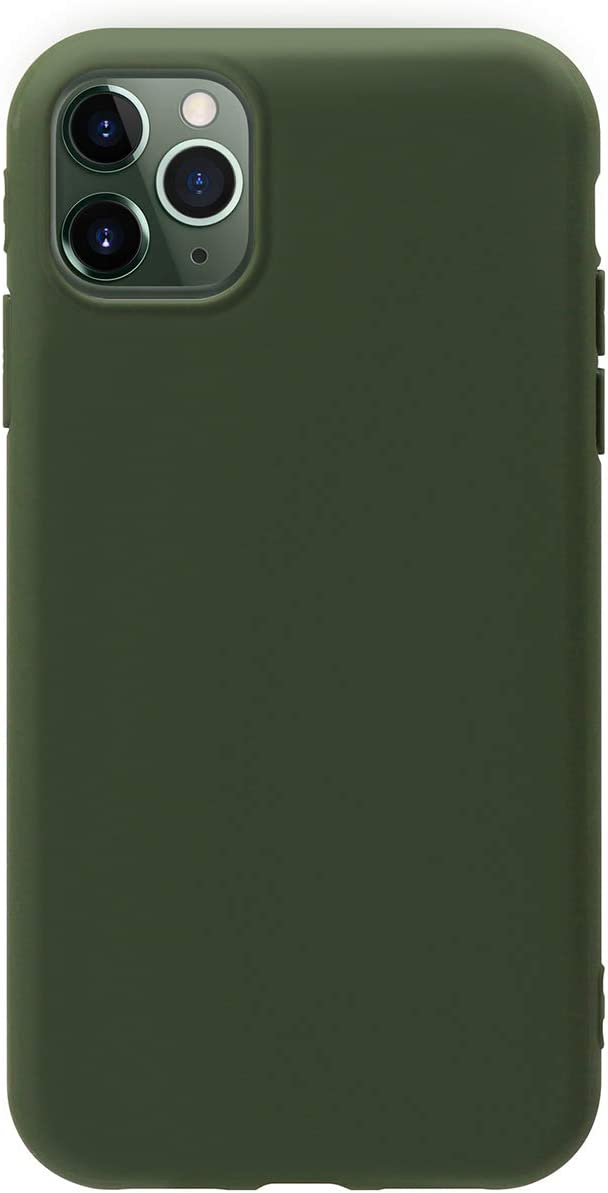 MUNDULEA Compatible with iPhone 12 Pro/iPhone 12 Case Green Slim Surface Layer Smooth Matte Soft Flexible TPU Cover Compatible for iPhone 12 pro 6.1 inch (Green)