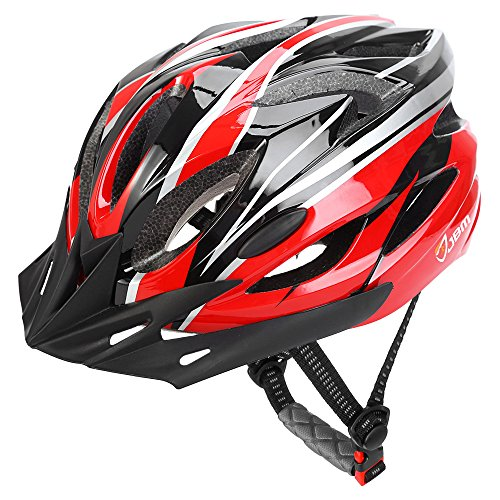JBM Adult Cycling Bike Helmet Specialized for Men Women Safety Protection CPSC Certified (18 Colors) Black/Red / Blue/Pink / Silver Adjustable Lightweight Helmet with Reflective Stripe and Remova - Custom Dial System