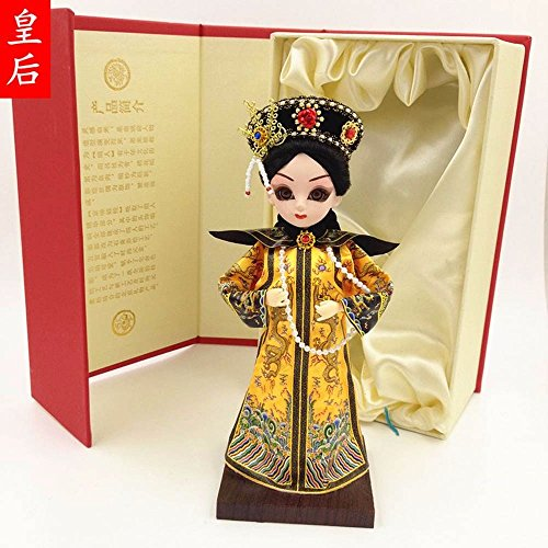 LINA-Beijing Doll Peking opera puppet gift ornaments QQ version of the Forbidden City mascot hands-kuen ,model10 office