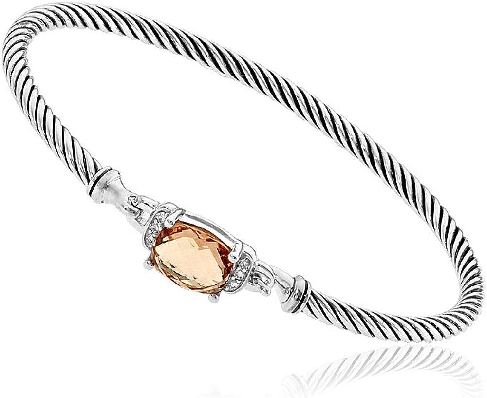 Amazon Com David Yurman Petite Wheaton Moraganite Diamonds Bracelet B11194dssamodi Jewelry