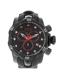 Invicta 18881 Men's Venom Reserve Black Dial Steel & Polyurethane Strap Chrono Dive Watch