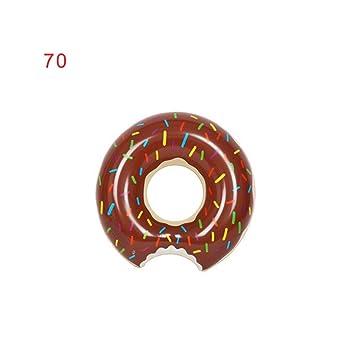 De postre dulce Flotadores gigantes adulto extra grande de donut gigante piscina inflable Boya vida Natación Café anillo circular 70: Amazon.es: Deportes y ...