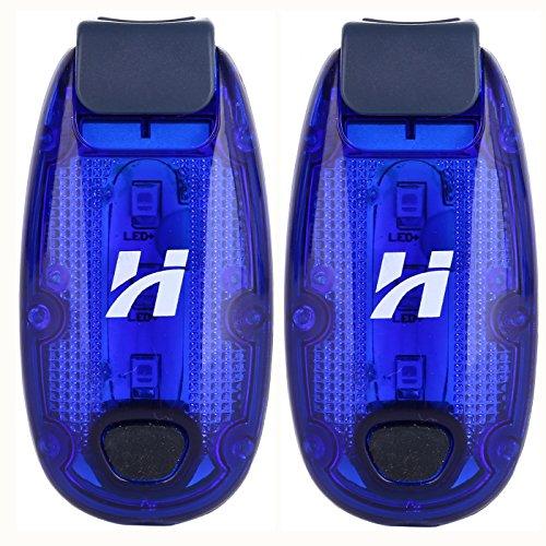 Hoyou LED Safety Light (2 Pack) + FREE Bonuses |Waterproof Clip On Strobe/Running Lights for Runners, Dogs, Bike, Walking Reflective Gear - Va Glasses Richmond