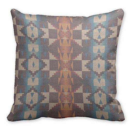 "Price comparison product image Plusone Native Indian Santa Fe Cute Cool Retro Abstract Aztec Pillow Cases For Throw Pillows 18"" x 18"""
