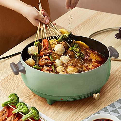 Casserole électrique 5L Multifonctions Poêle électrique Sauteuse Hot Pot Poêle Frire Pot Soupe Cuiseur Riz Marmite 1200w Poêle Antiadhésive Pour Dortoir Maison Cuisine