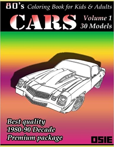 80s Coloring Book For Children Adults Cars Cars Coloring And 80s