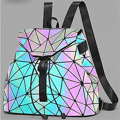 Delle Ragazze Fluorescenti Donne 01 Geometrico Zaino Studenti Pieghevoli Zaini Romboidali Degli xa7BPqp