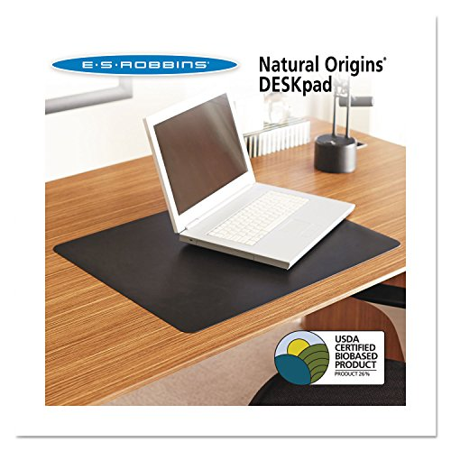 ES Robbins 120797 Natural Origins Desk Pad, 38- inches x 24-inches, Black