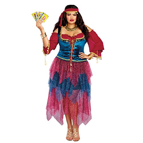 Dreamgirl Women's Plus Size Gypsy, Multi, 3X -