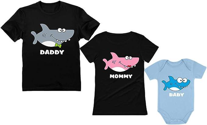 Mommy Sharks Infan Short Sleeve Top Girl Birthday Gift