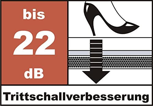 TOP bei Fu/ßbodenheizung Trittschallverbesserung 22 dB St/ärke: 2 mm, 30 m/²   3 Rollen Geschallverbesserung bis zu 30/% m/öglich Trittschalld/ämmung uficell/® TOPSONIC AKUSTIK