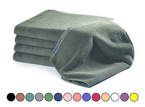 BLEACHSAFE Soft Cotton Towel Set: 15 In x 26 In Thick, Absorbent Bleachproof Towels for Salon, Gym, Spa or Restaurant - Pack of 24, Mosstone by BLEACHSAFE