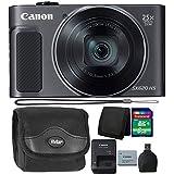 Canon PowerShot SX620 20.2MP HS Digital Camera (Black) + 8GB Memory Card + Wallet + Reader + Camera Case