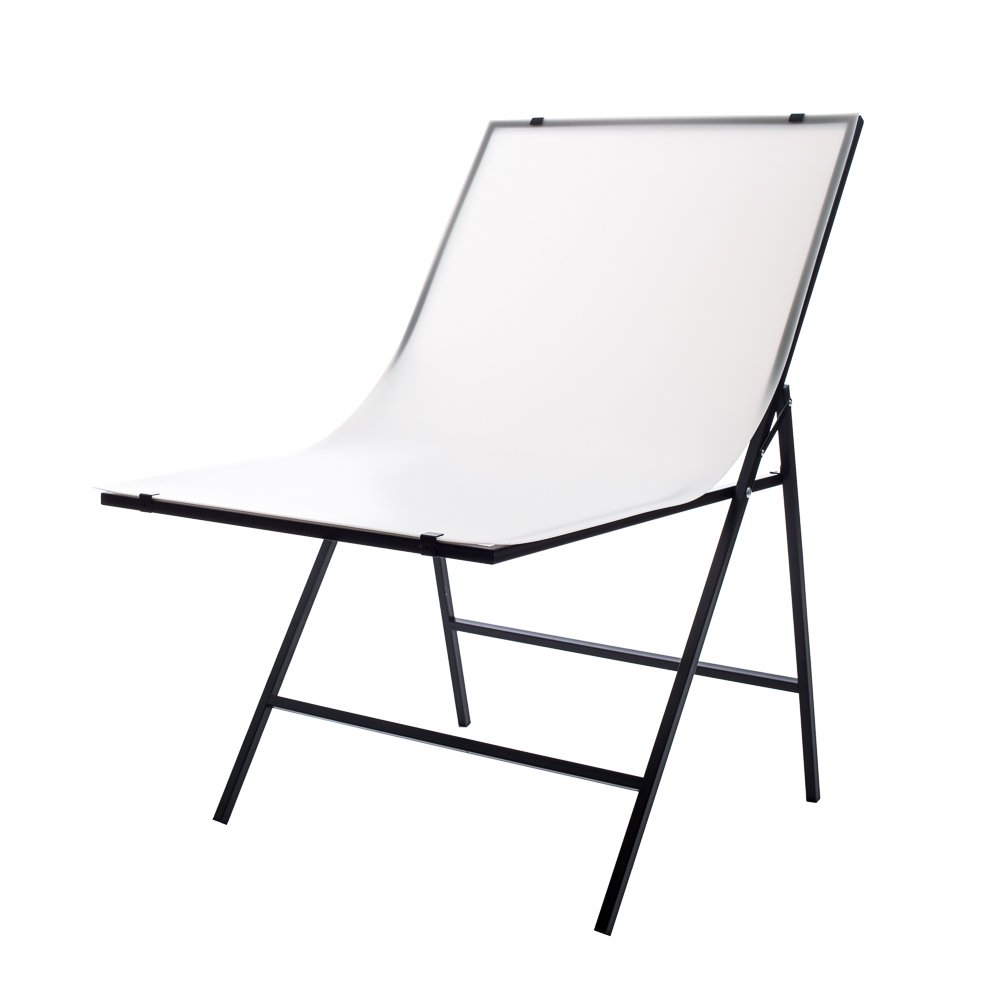 Fovitec - 1x Product Photography Shooting Table - [Matte Finish][Produces Pure White Backgrounds][For eCommerce Shoots][Easy Set Up]