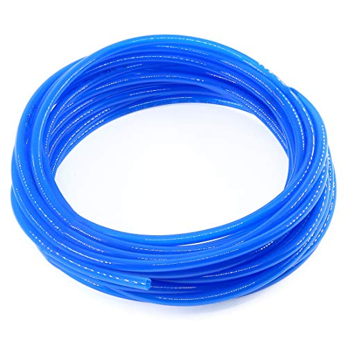 Swpeet 12 Meters Blue Pneumatic 8mm Od 5mm Id PU Air Tubing Pipe Hose Nylon Air Hose for Air Line Tubing or Fluid Transfer Pneumatic Tubing