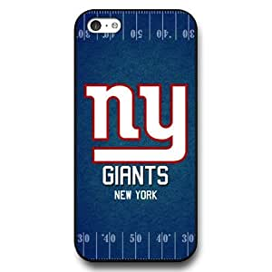 UniqueBox Customized NFL Series Case for iPhone 5C, NFL Team New York Giants Logo iPhone 5c Case, Only Fit for Apple iPhone 5C (Black Hard Shell)