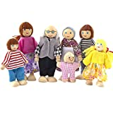 Anddyam American Wooden The Happy Family Dolls Of 7 People
