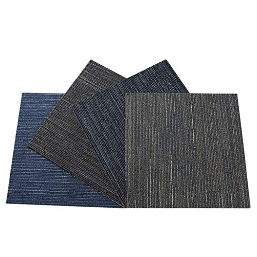 (Carpet HUANGD Commercial Engineering Company Office Carpet Stitching Square Home Tile Carpet Fully Bedroom Room Living Room Office Building Corridor Suitable for Home Flooring (Color : B))