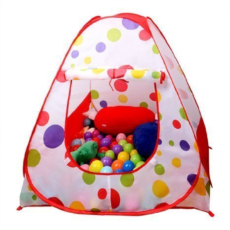 EocuSun Children Kids Play Tent Tents House Pop Up Outdoor Indoor Ball Pit Baby Beach Tent Playhouse w/ Zipper Storage Case for Boys Girls by EocuSun