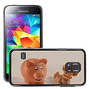 Cas Coq Case Cover // M00104696 Cerdos Cerdito Mazapán Suerte Sonrisa // Samsung Galaxy S5 MINI SM-G800